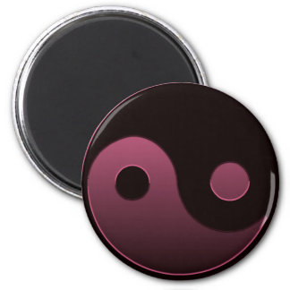yin yang pink magnet