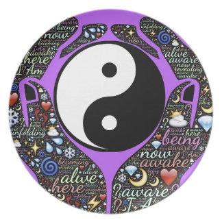 Yin, Yang Plate