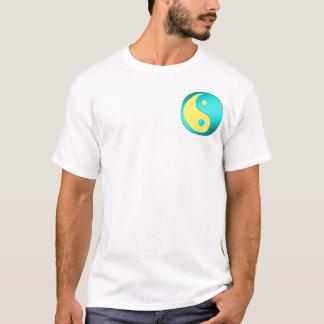 Yin-Yang, pocket, blue & lt. blue T-Shirt