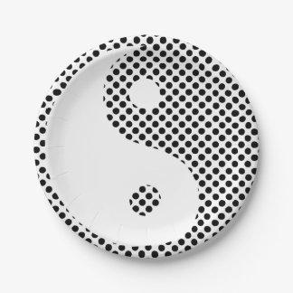 Yin Yang - Polka Dot Paper Plates 7 Inch Paper Plate