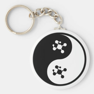 Yin Yang Polymer Chemistry Keychain