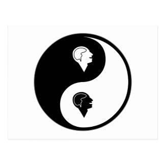 Yin Yang Psychology Postcard