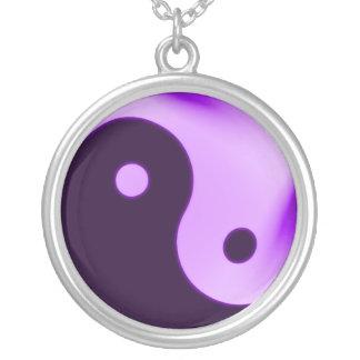 Yin yang purple necklace