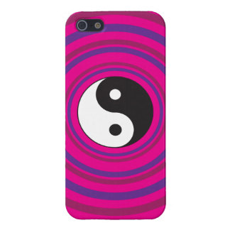 Yin Yang Purple Pink Concentric Circle Pattern iPhone 5 Cases