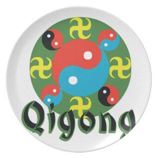 Yin Yang Qigong Dinner Plate