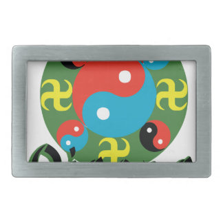 Yin Yang Qigong Rectangular Belt Buckle