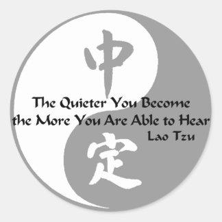 Yin Yang - Quiet Round Sticker