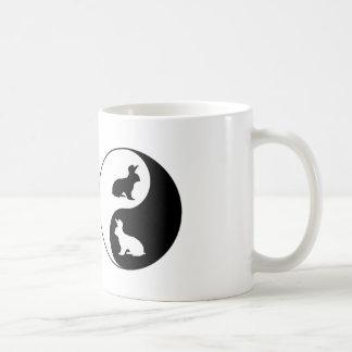 Yin Yang Rabbits Coffee Mug