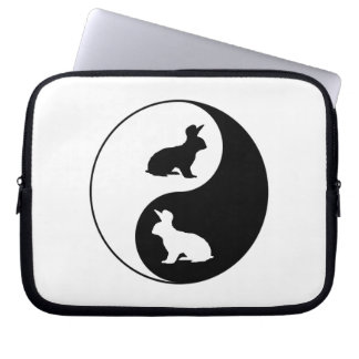 Yin Yang Rabbits Laptop Sleeve