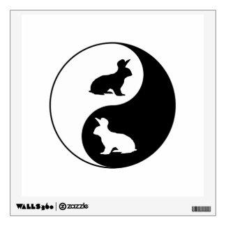 Yin Yang Rabbits Wall Decal
