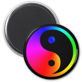 yin yang rainbow magnet