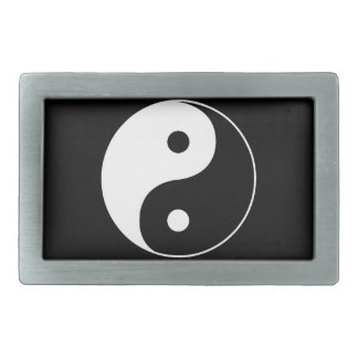 Yin Yang Rectangular Belt Buckle