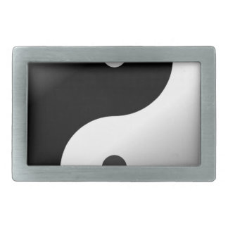 Yin Yang Rectangular Belt Buckles