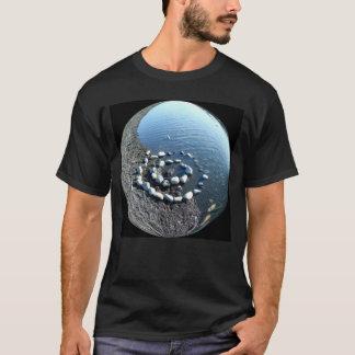 Yin Yang River Rocks Men's T-shirt
