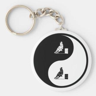 Yin Yang Rodeo Keychain