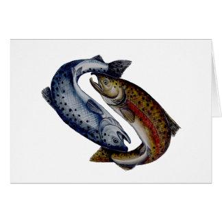 Yin Yang Salmon Fish Card