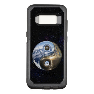 Yin Yang Sea Mountains With Your Monogram OtterBox Commuter Samsung Galaxy S8 Case