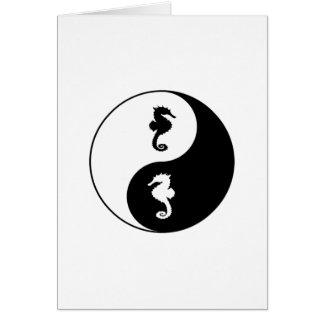 Yin Yang Seahorse Card