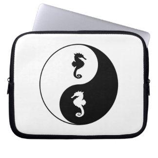 Yin Yang Seahorse Computer Sleeve