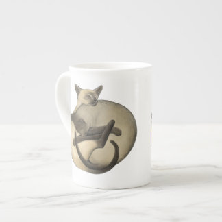 Yin Yang Siamese Cats Bone China Mug