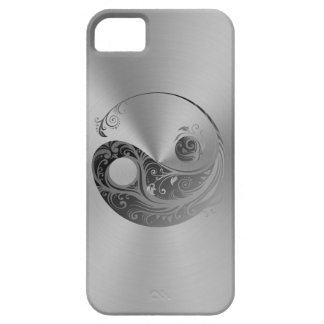 Yin Yang silver iPhone 5 case