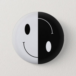 Yin Yang Smiley 2 Inch Round Button