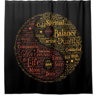 Yin Yang Spiritual Colour Word Art