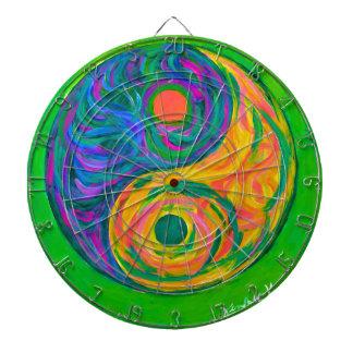 Yin Yang Spring Dartboard With Darts