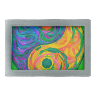 Yin Yang Spring Rectangular Belt Buckles