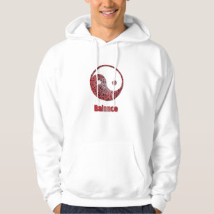 Yin Yang stained glass red balance2 copy Hoodie