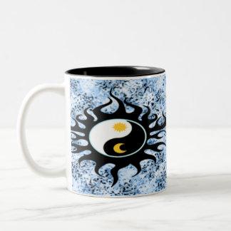 Yin Yang Sun & Moon Two-Tone Mug