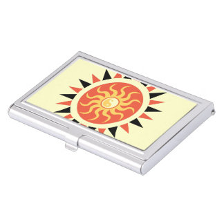 Yin yang sunshine business card holder
