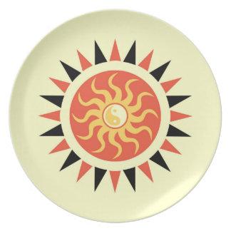 Yin yang sunshine dinner plates