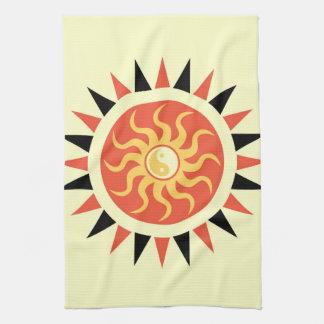 Yin yang sunshine hand towel