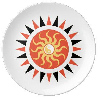 Yin yang sunshine porcelain plates