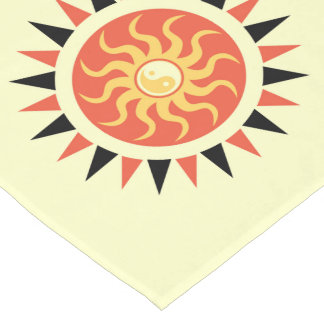 Yin yang sunshine short table runner