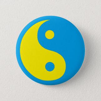Yin Yang Swedish Style 2 Inch Round Button