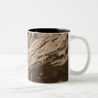 """Yin Yang Swirl"" Two-Tone Coffee Mug"