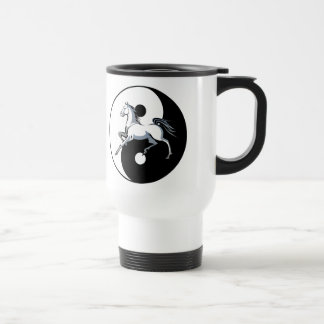 Yin Yang Symbol Horse Mug