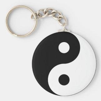 Yin Yang Symbol Keychain