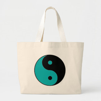 YIN YANG Symbol Large Tote Bag
