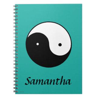 Yin Yang Symbol Spiral Notebook