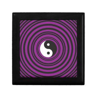 Yin Yang Taijitu symbol Purple Black Circles Gift Box