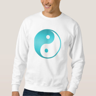 Yin Yang Teal Blue Illustration Template Sweatshirt