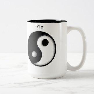 Yin-yang template Two-Tone coffee mug