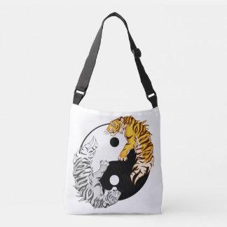 Yin & Yang Tigers All-Over Print Cross Body Bag