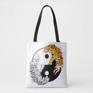 Yin & Yang Tigers All-Over Print Shoulder Bag