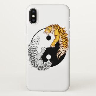 Yin & Yang Tigers iPhone X Glossy Case