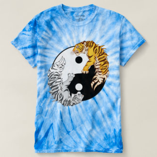 Yin & Yang Tigers Men's Cyclone Tie-Dye T-Shirt