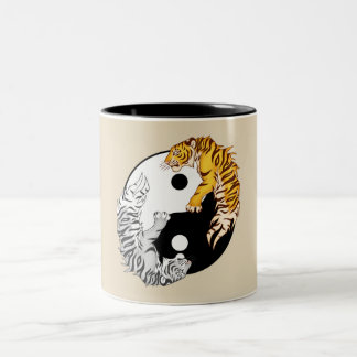 Yin & Yang Tigers Two-Tone Mug
